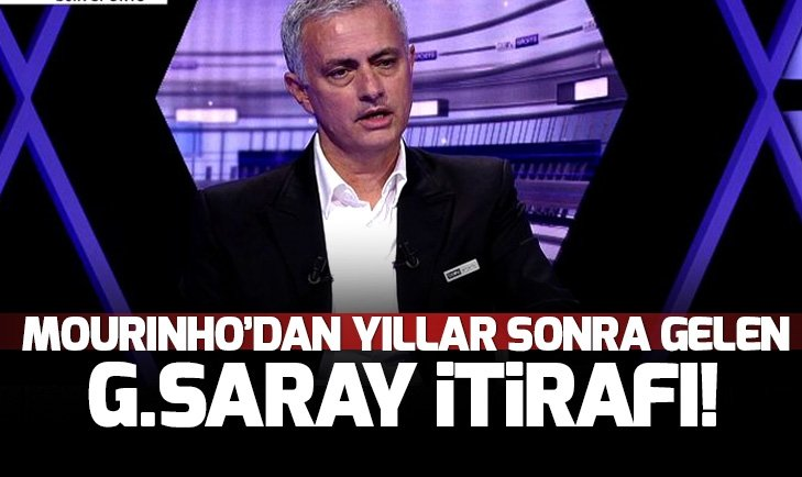 Mourinho'dan Galatasaray itirafı! Canlı yayında anlattı