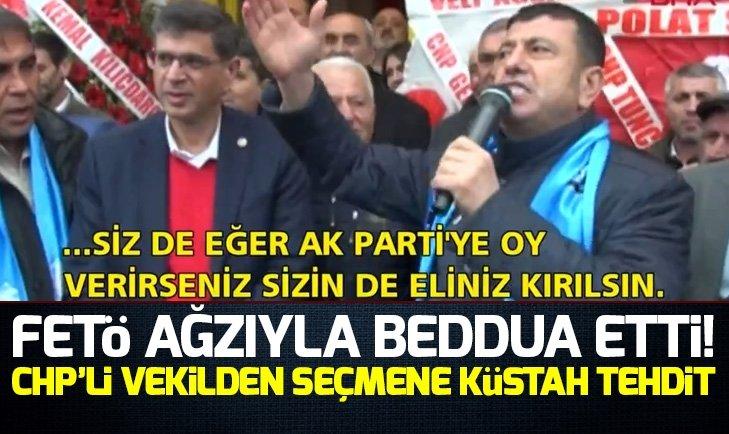 CHP'Lİ VELİ AĞBABA SEÇMENİ TEHDİT ETTİ!