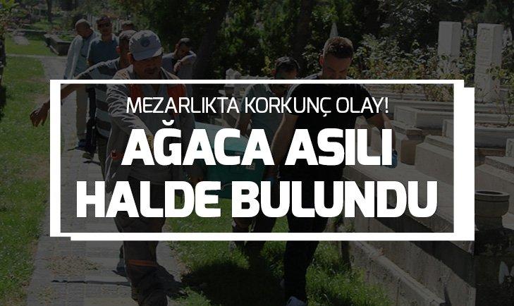 Kayseri'de mezarlıkta asılı ceset bulundu