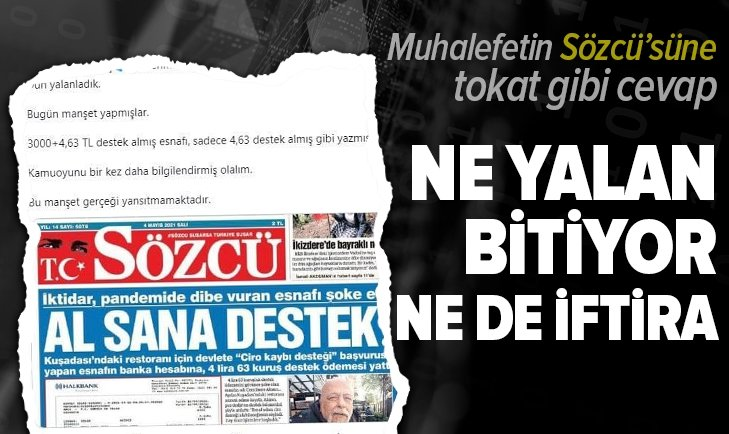 Sözcü Gazetesi yalana doymuyor! Ticaret Bakanı Dr. Mehmet Muş'tan Sözcü Gazetesi'ne tokat gibi cevap