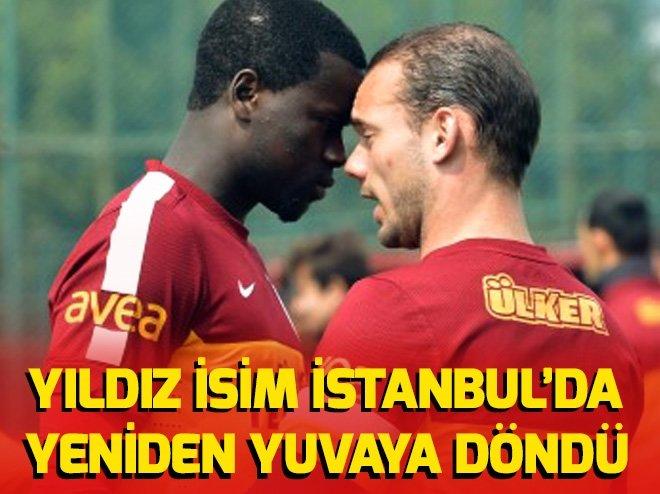 GALATASARAY'IN ESKİ YILDIZI İSTANBUL'DA...