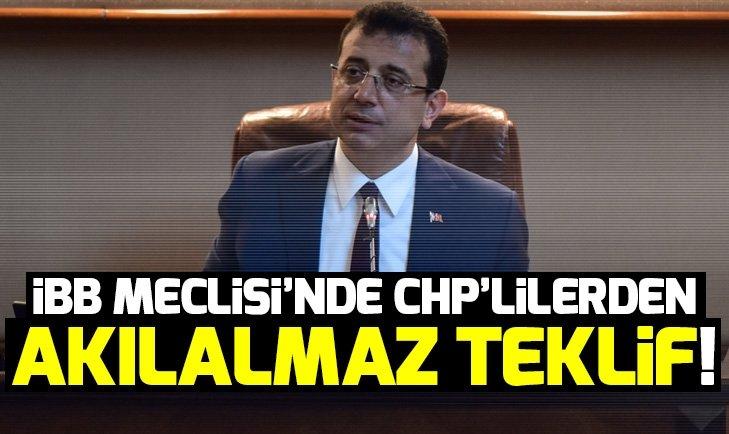 İstanbul Büyükşehir Belediye Meclisi'nde CHP'lilerden pes dedirten hareket