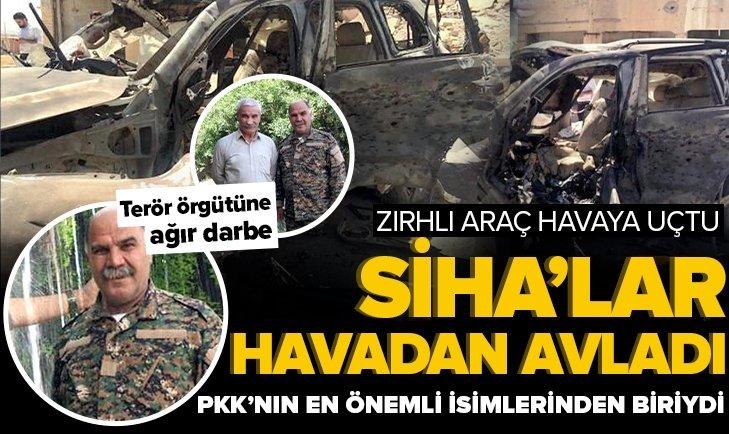 SİHA'lar PKK'lı teröristleri zırhlı araçta avladı: Sincar'daki en kritik isimlerden Said Hasan öldürüldü