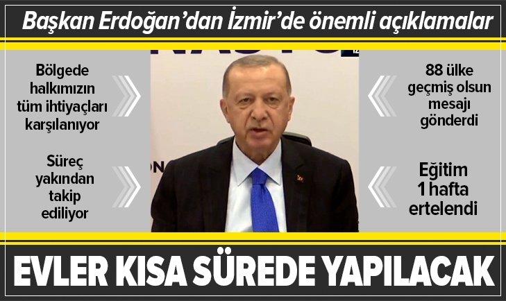 Başkan Recep Tayyip Erdoğan İzmir depremi nedeniyle bölgeye geldi