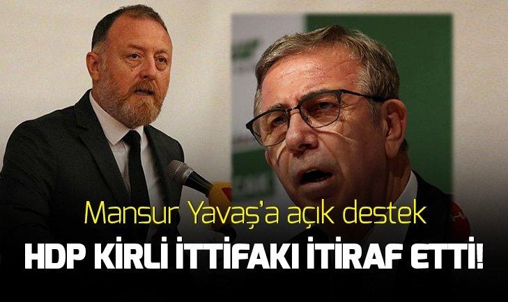 HDP ANKARA'DA YAVAŞ'A DESTEĞİNİ AÇIK AÇIK İLAN ETTİ