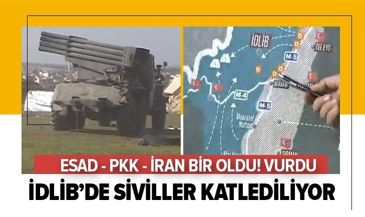 ESAD REJİMİ, PKK VE İRAN SİVİLLERE SALDIRIYOR