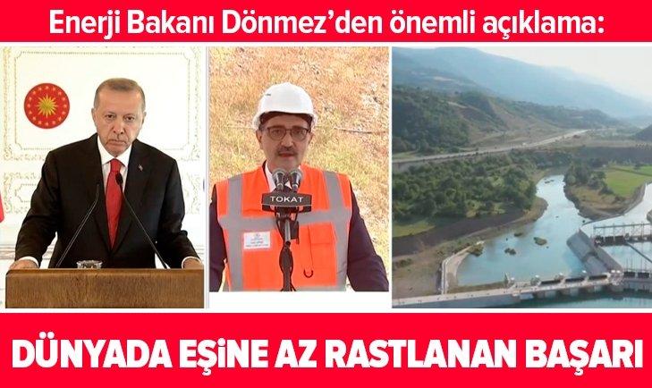 Enerji Bakanı: Dünyada eşine az rastlanan bir başarı