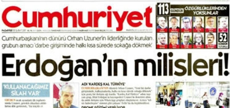 CUMHURİYET'İN YALAN HABERİ BÖYLE TESCİLLENDİ