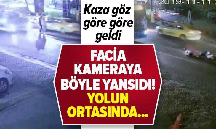 İSTANBUL'DA KAZA GÖZ GÖRE GÖRE GELDİ!