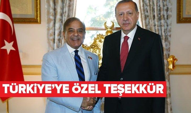 PAKİSTANLI LİDERDEN ERDOĞAN'A TEŞEKKÜR!