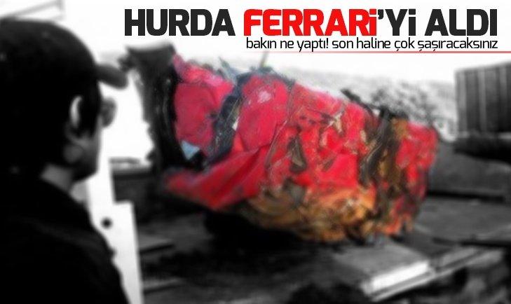 Kaza sonrası hurda olan Ferrari'yi alıp bakın ne yaptı!