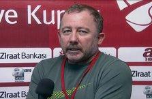Sergen Yalçın canlı yayında 'istifa' kararını açıkladı