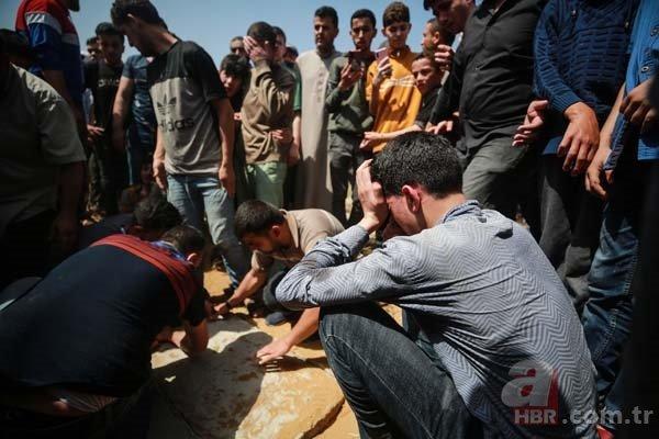 Filistinli çocuğun şehit babasına yürek yakan vedası: Allah yolunu açık etsin