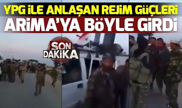 PKK/YPG İLE ANLAŞAN ESAD REJİMİ MÜNBİÇ'E GİRDİ