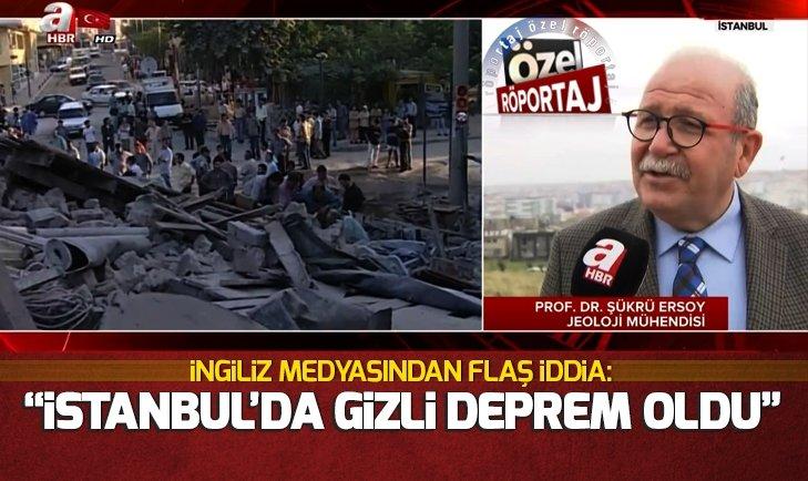 İSTANBUL'DA GİZLİ DEPREM OLDU