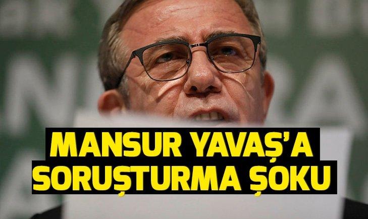 Son dakika: Mansur Yavaş'a soruşturma