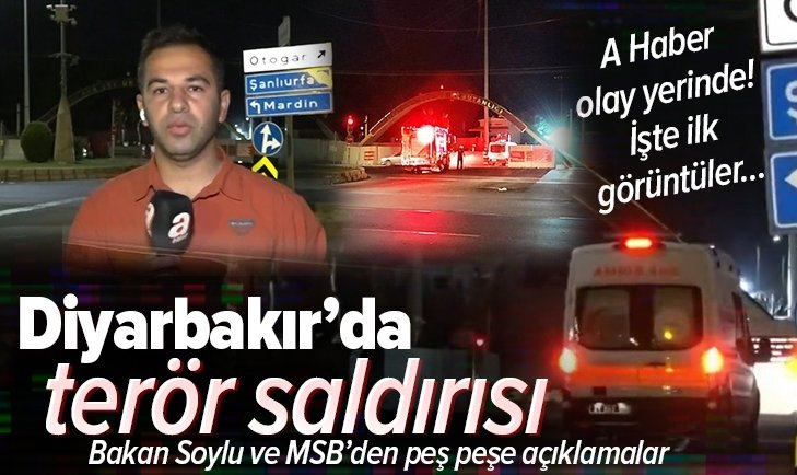 Son dakika: Diyarbakır'da terör saldırısı