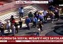 ABD'DE SOSYAL MESAFE KURALI HİÇE SAYDILAR! KORKUNÇ GÖRÜNTÜLER |VİDEO