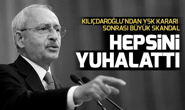 CHP Genel Başkanı Kılıçdaroğlu, YSK üyelerini yuhalattı