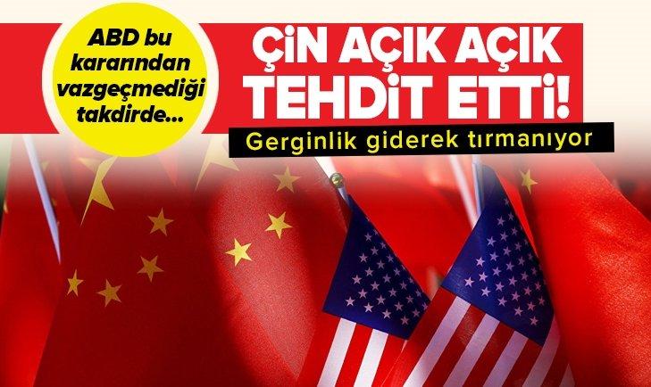 ÇİN'DEN ABD'YE YAPTIRIM TEHDİDİ