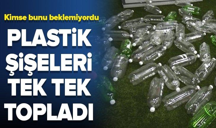 PLASTİK ŞİŞELERİ TEK TEK TOPLAYIP YAPTI!