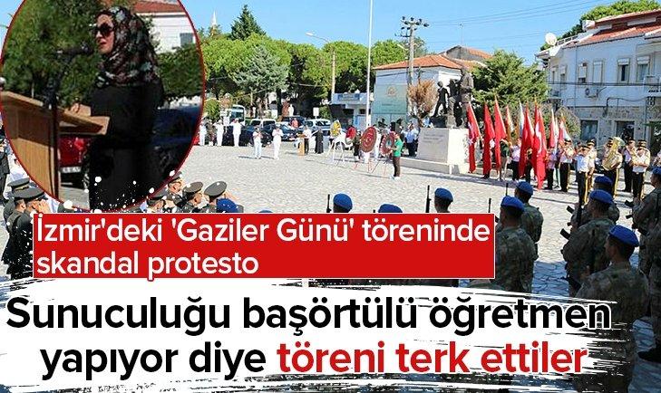 'GAZİLER GÜNÜ' TÖRENİNDE SKANDAL PROTESTO!