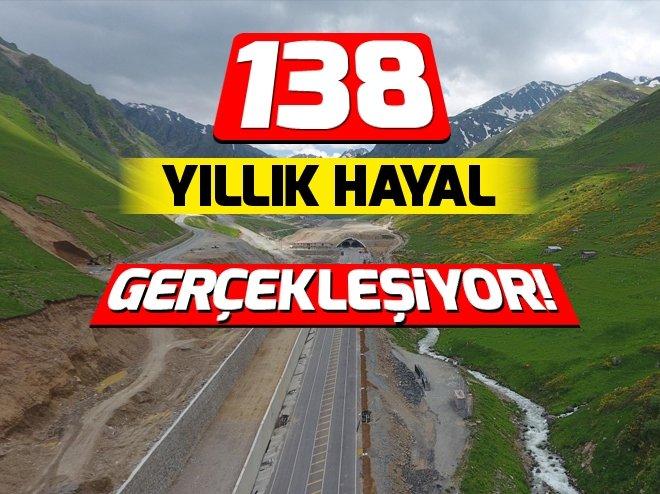 138 YILLIK HAYAL GERÇEKLEŞİYOR! TÜRKİYE'NİN EN UZUN TÜNELİ OVİT TÜNELİ AÇILIYOR