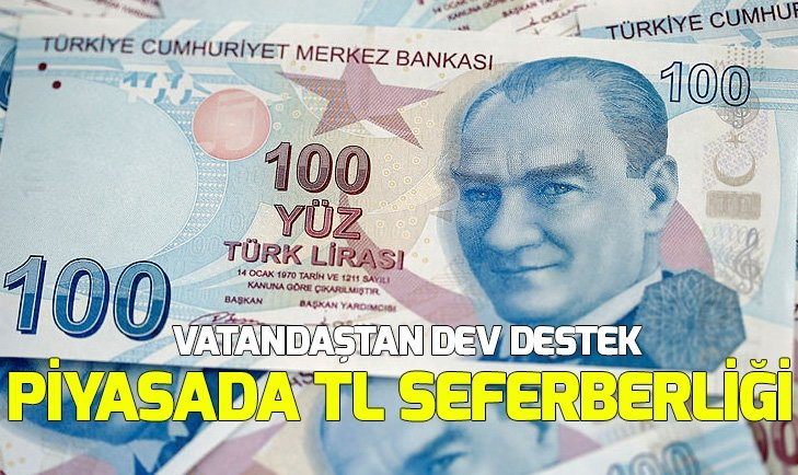 PİYASADA TL SEFERBERLİĞİ