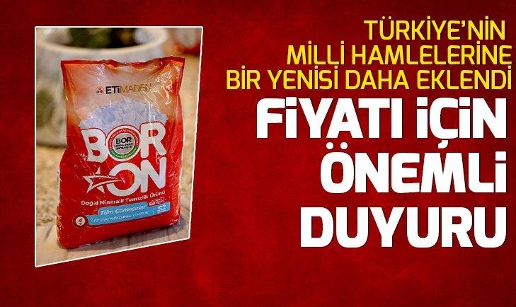 Türkiye'nin yerli ve milli temizlik ürünü BORON piyasada! BORON'un fiyatıyla ilgili önemli duyuru