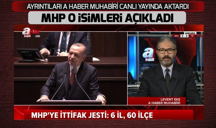 MHP'YE İTTİFAK JESTİ 6'İL 60 İLÇE...