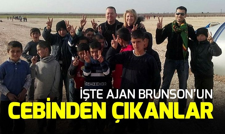 İŞTE AJAN ANDREW BRUNSON'UN CEBİNDEN ÇIKANLAR