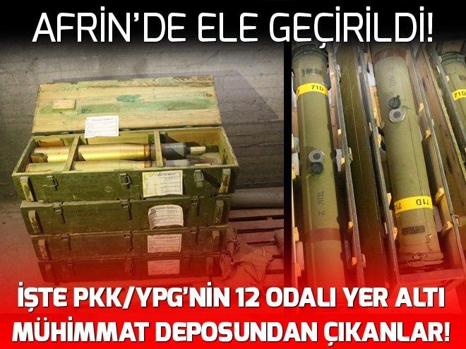 YPG/PKK'NIN 12 ODALI YER ALTI MÜHİMMAT DEPOSU BULUNDU