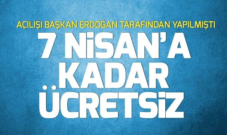 İSTANBUL HAVALİMANI OTOPARKLARI 7 NİSAN'A KADAR ÜCRETSİZ