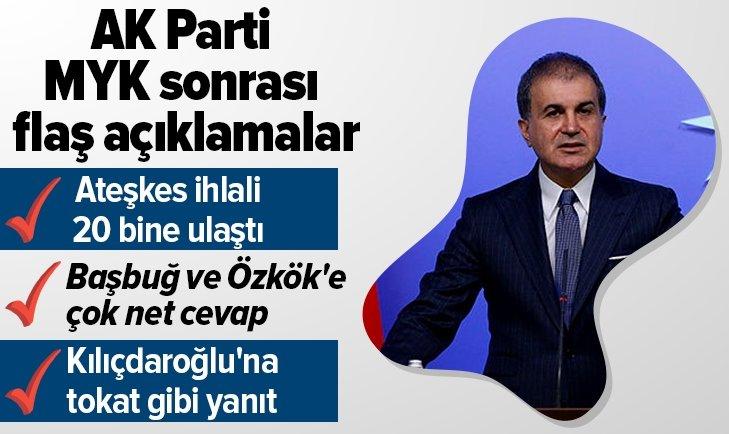 AK PARTİ MYK TOPLANTISI SONRASI AÇIKLAMALAR