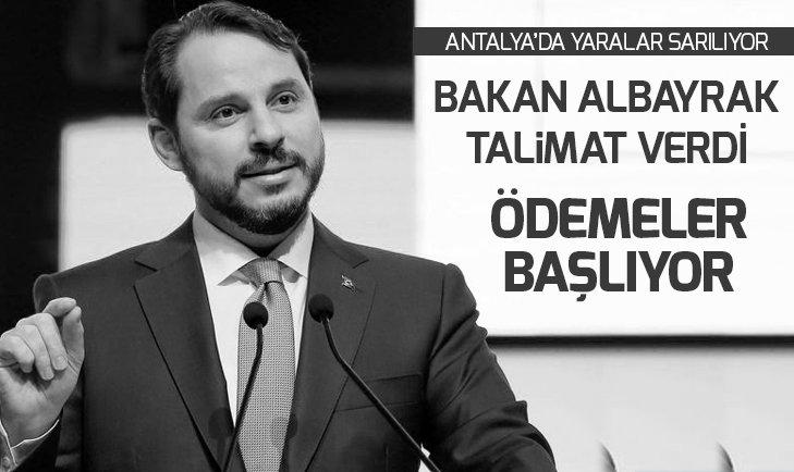 Antalya'da yaralar sarılıyor çiftçiye müjde! Bakan Albayrak talimatı verdi