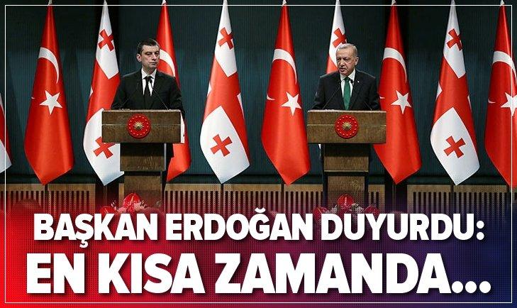 Erdoğan duyurdu: En kısa zamanda...