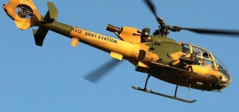 Irak'ta askeri helikopter düştü: 5 kişi hayatını kaybetti