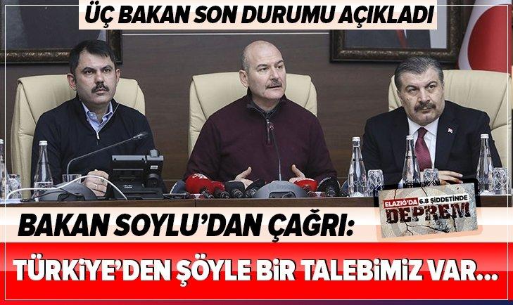 BAKAN SOYLU'DAN ÇAĞRI: TÜRKİYE'DEN ŞÖYLE BİR TALEBİMİZ VAR...