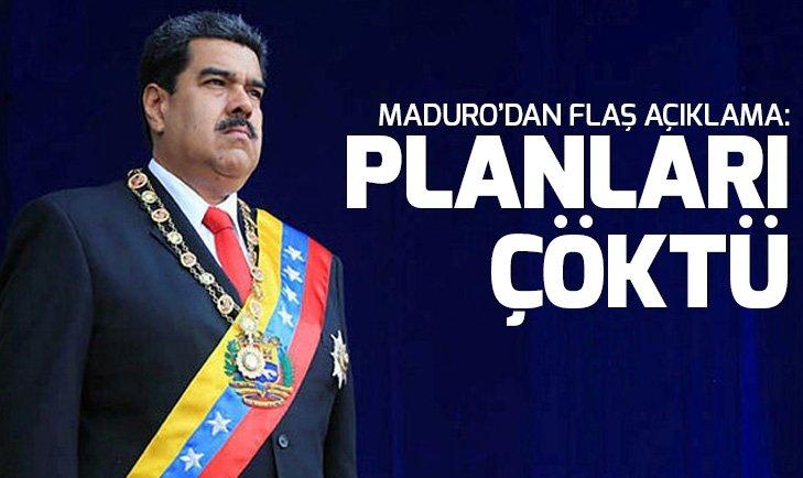Venezuela Devlet Başkanı Nicolas Maduro: Planları boşa çıktı
