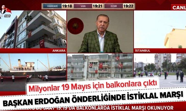 Milyonlar 19 Mayıs için evlerinden İstiklal Marşı okudu