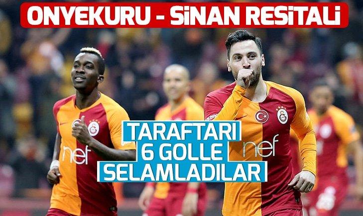 Galatasaray evinde şov yaptı