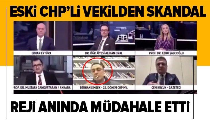 CHP'Lİ ESKİ VEKİLCANLI YAYINDASİGARAYAKTI!