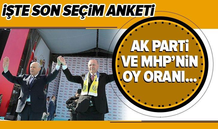İŞTE SON ANKET! AK PARTİ VE MHP'NİN OY ORANI...