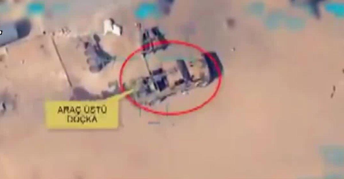 Son dakika: Doçka uçaksavar monteli araç böyle vuruldu! Barış Pınarı Harekatı'ndan yeni görüntü . ile ilgili görsel sonucu