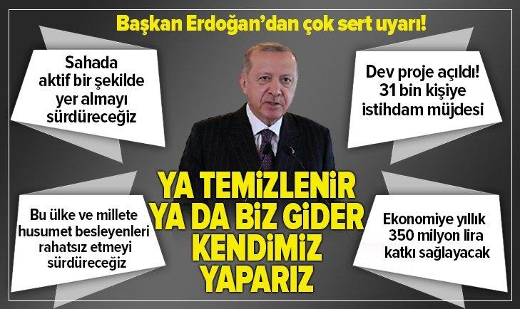 Başkan Erdoğan'dan çok sert Suriye uyarısı