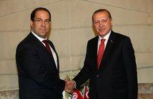 Tunus Başbakanı Şahid'den Cumhurbaşkanı Erdoğan'a tebrik telefonu