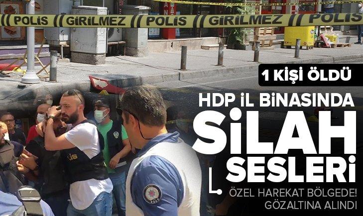 Son dakika: HDP İzmir İl Başkanlığı'nda silah sesleri: 1 kişi öldü, 1 kişi gözaltında! Özel Harekat bölgede