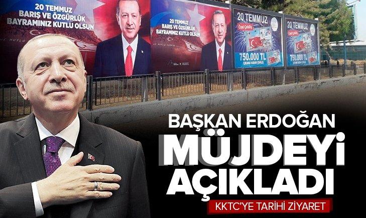 Başkan Recep Tayyip Erdoğan'dan KKTC Meclisi'nde son dakika açıklamaları! Erdoğan'ın açıkladığı müjde...