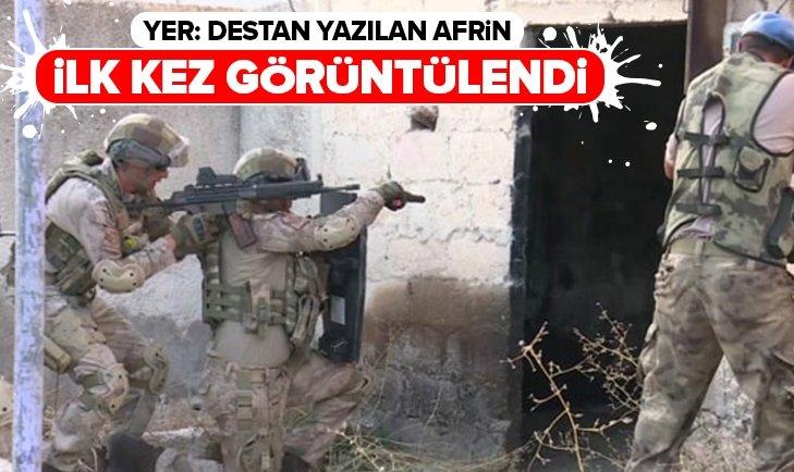 AFRİN'DEKİ KOMANDO ÜSLERİ İLK KEZ GÖRÜNTÜLENDİ
