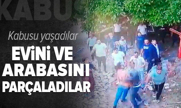 Burdur'da dehşeti yaşadılar! Evi ve arabasını parçaladılar